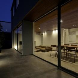 三鷹の家~緑を望む大開口の家 (LDKと繋がるテラス)
