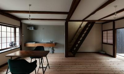 ダイニングキッチン|昭和小路の長屋II|賃貸向け京町家のシンプルリノベーション【京都市】
