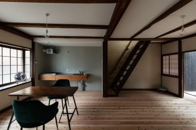 ダイニングキッチン (昭和小路の長屋II|賃貸向け京町家のシンプルリノベーション【京都市】)