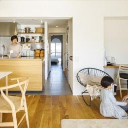 K邸-子どもの成長に合わせてカスタマイズできる「通り」がある家