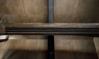 姫路・天満の家 主屋 (寝室の天井 見上げ)