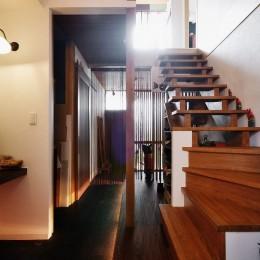 家で楽しく仕事できる、土間のある一軒家 (階段)