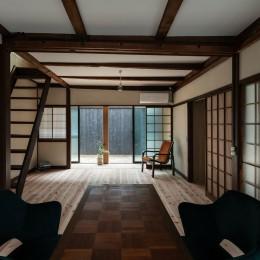 昭和小路の長屋II|賃貸向け京町家のシンプルリノベーション【京都市】 (リビング・ダイニング)
