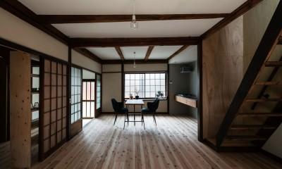 ダイニング・キッチン|昭和小路の長屋II|賃貸向け京町家のシンプルリノベーション【京都市】