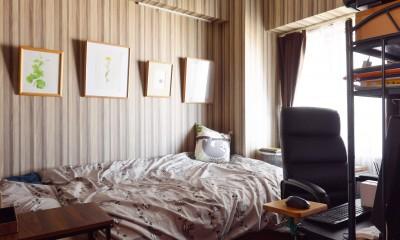 家族4人から夫婦2人の生活へ リノベーションで豊富な収納を実現 (ご主人の部屋)