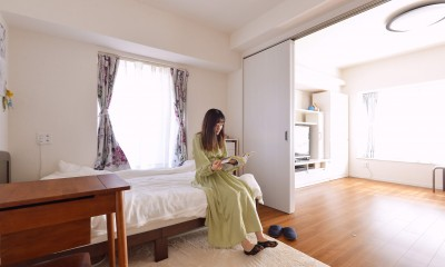 家族4人から夫婦2人の生活へ リノベーションで豊富な収納を実現 (娘さんの部屋)