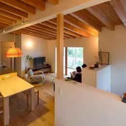 リビングダイニングキッチン (横地の家/趣味を楽しむ平屋の住み家)