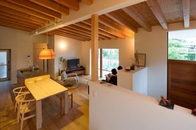 横地の家/趣味を楽しむ平屋の住み家 (リビングダイニングキッチン)