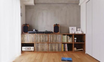 H様邸_好きなレコードを楽しみ、家族が集まるLDK (オーディオ空間)