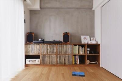 オーディオ空間 (H様邸_好きなレコードを楽しみ、家族が集まるLDK)