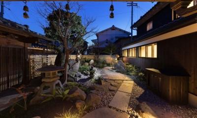 中庭|姫路・天満の家 主屋