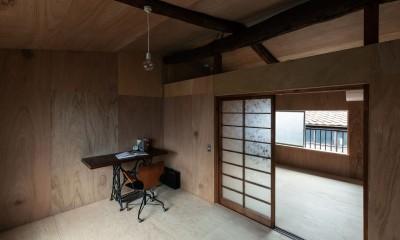 2階の部屋|昭和小路の長屋II|賃貸向け京町家のシンプルリノベーション【京都市】