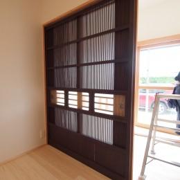 Tさま邸母屋リノベーション (寝室の引き戸)