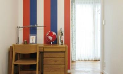 ヴィンテージマンションリフォーム 子供部屋とスタディースペースをつくる (子供部屋(お兄さん側))