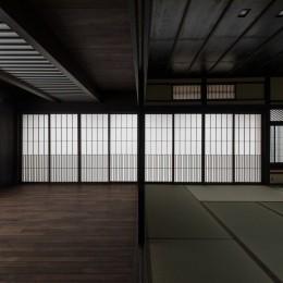 姫路・天満の家 主屋 (仏間とホール)