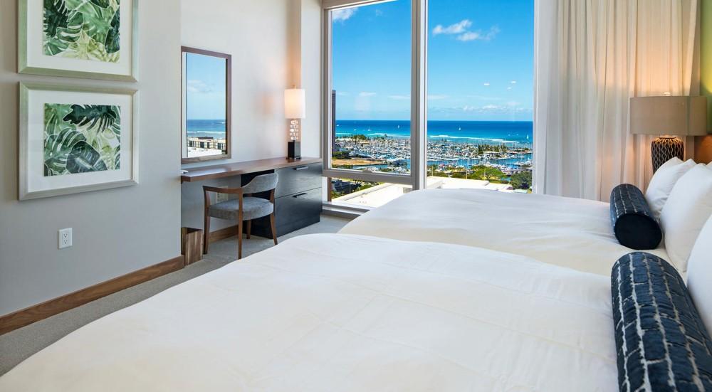 コンドミニアのインテリア:Hawaii. USA 03 (ベッドルーム)