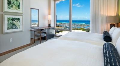 ベッドルーム (コンドミニアのインテリア:Hawaii. USA 03)