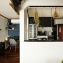ふたりと2匹の心地よい家の写真 吊戸棚を撤去し大開口を実現したキッチン