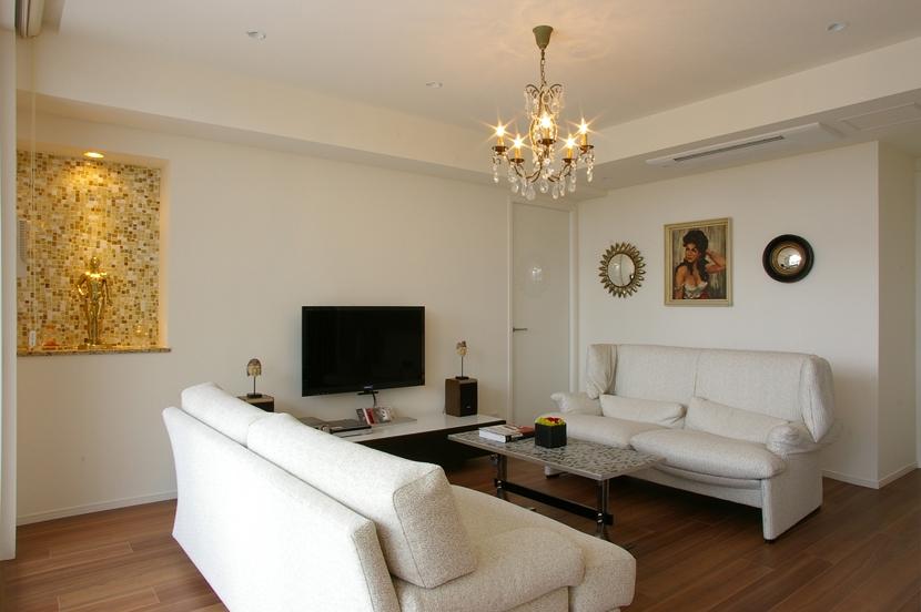 M邸 / 新築マンションのリフォーム (リビング)