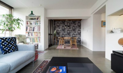 漆喰と輸入クロスを使ったマンションリノベーション