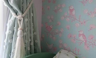 漆喰と輸入クロスを使ったマンションリノベーション (子供部屋)