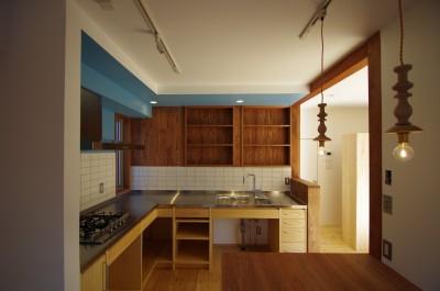 キッチン1 (かもめ食堂のようなキッチンの家.柏市K邸)