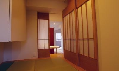 T邸 / 風が通り視線が通る、家全体を一日中使える小さな住まい (和室)