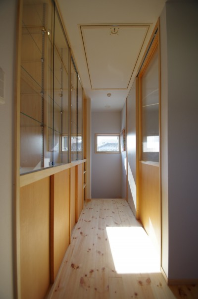 2階廊下兼ギャラリー (取手市O邸新築工事)