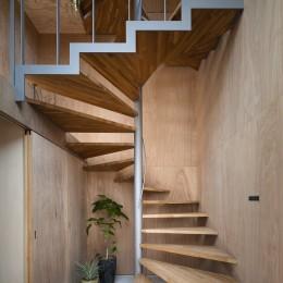 屋根の空地 (らせん階段)
