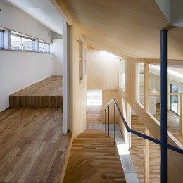 寝室・階段 (屋移りの住居)