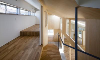 屋移りの住居 (寝室・階段)