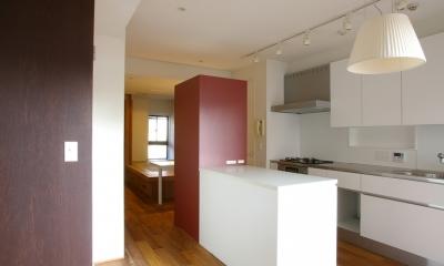 T邸 / 風が通り視線が通る、家全体を一日中使える小さな住まい (ダイニングキッチン)