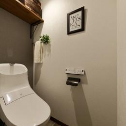 将来の売却も見据えた家づくり (シンプルでお洒落なトイレ)