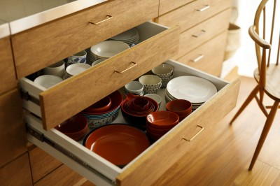 キッチン (塩梅-実現できる?50平米のコンパクトな家で家族それぞれのマイスペース)
