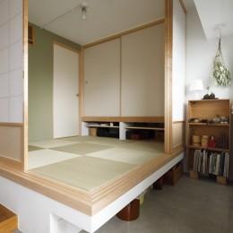 塩梅-実現できる?50平米のコンパクトな家で家族それぞれのマイスペース (玄関)