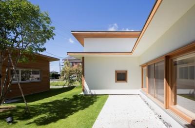 拾石の家/職住一体の暮らし おおらかなコートハウス (中庭)