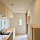 休耕地に建つ女性のための住宅の写真 休耕地の家|キッチン1