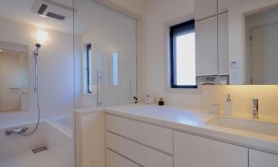 NK邸 / 二世帯住宅へのリノベーション (バス、洗面所)