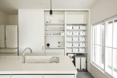 キッチン収納 (O様邸_毎日の使いやすさを大切に)