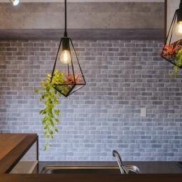 カフェ風キッチンのある家