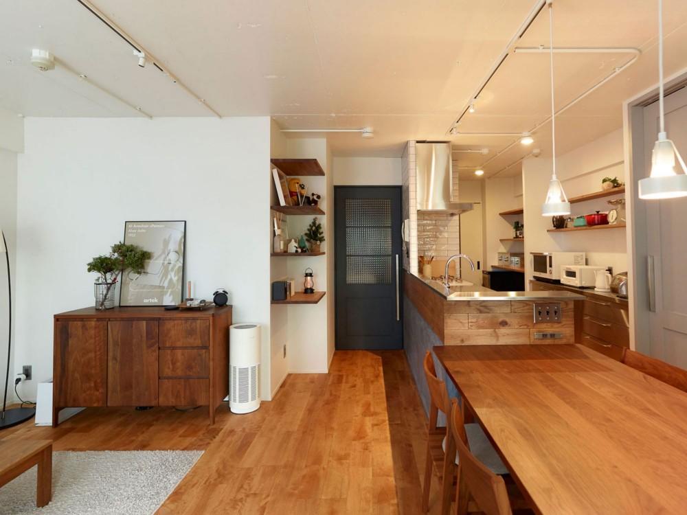 愛猫2匹と自然素材との暮らし (リビング&キッチン)