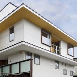 仕事場のある家|あなたの場所・自分の居場所を創る|キッチンとの関係性を良好に家事コーナーのコミュニティ (外観)