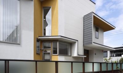 仕事場のある家|あなたの場所・自分の居場所を創る|キッチンとの関係性を良好に家事コーナーのコミュニティ (外観02)