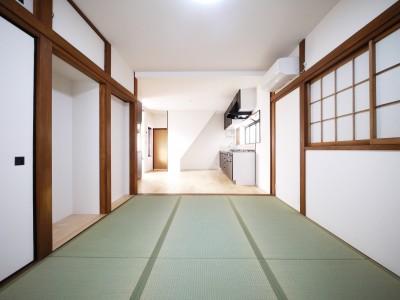 和室・居間 (戸建の和室をオープンな空間に)