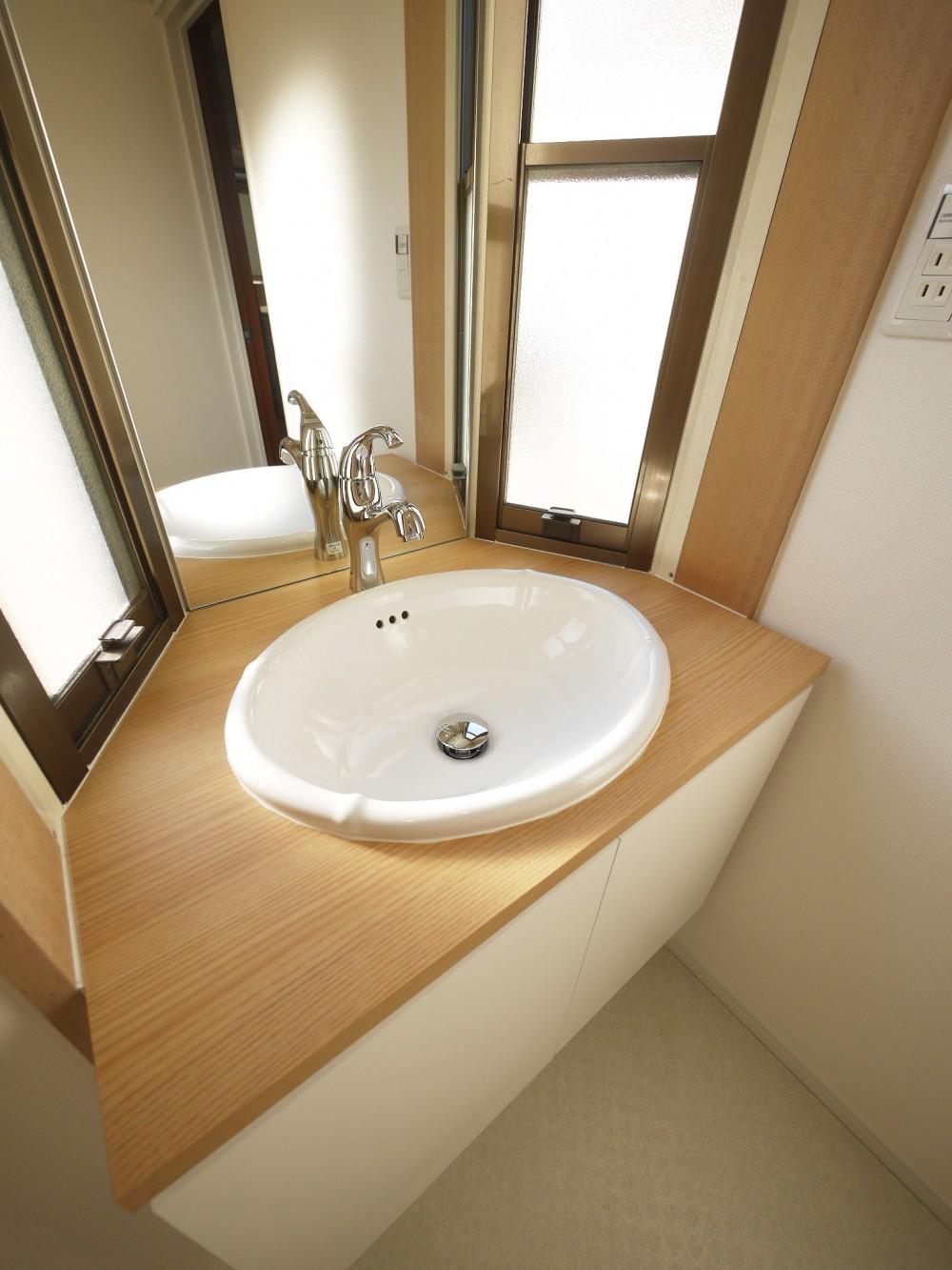 戸建の和室をオープンな空間に (洗面台)