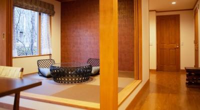 和室 (新築別荘の建築設計&インテリア:長野.軽井沢 01)