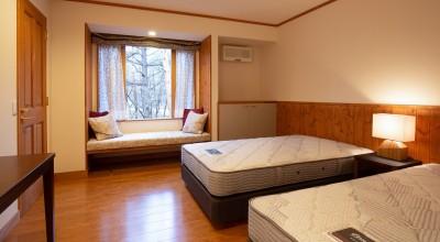 新築別荘の建築設計&インテリア:長野.軽井沢 01 (ベッドルーム)