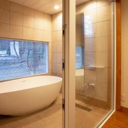 新築別荘の建築設計&インテリア:長野.軽井沢 01 (バスルーム)
