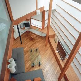 仕事場のある住まい|あなたの場所・自分の居場所を創る|リビングコーナーながら 専用の坪庭を持つスタディスペース
