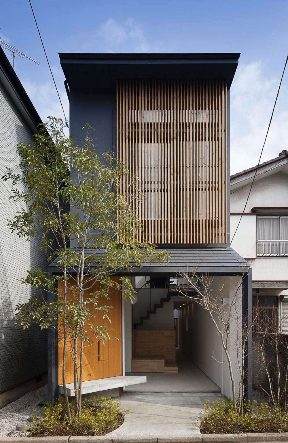 外観 (小江戸川越の町家 ー小間を立体的に繋げた現代的町家ー)